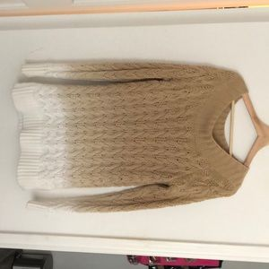 Fully Knitted VV ombré sweater